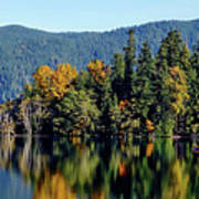 Crescent Lake Fall Colors Poster