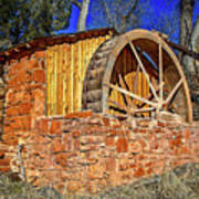 Crescent Moon Ranch Water Wheel Poster