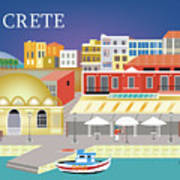 Crete Greece Horizontal Scene Poster