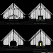 Crew Boathouse Elevations Poster