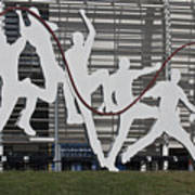 Cricket Art Sculpture Southampton Poster