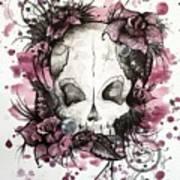 Crimson Skull Poster