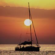 Croatian Sunset Poster