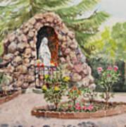 Crockett California Saint Rose Of Lima Church Grotto Poster