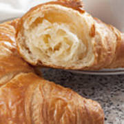 Croissants And Coffee Poster