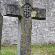 Cross Tombstone St. Mary's Wedmore Poster
