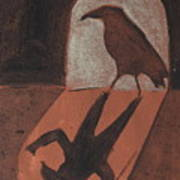 Crow In The Doorway Of Life With Woad Poster