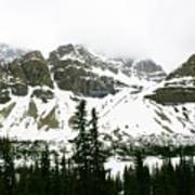 Crowfoot Mountain At Bow Lake Poster