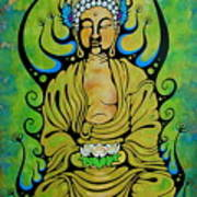 Crowned Buddha Poster