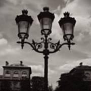 Crowned Luminaires In Paris Poster