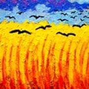 Crows Over Vincent's Field Poster