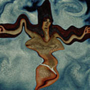 Crucified Woman Surreal I Poster