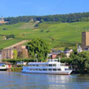 Cruise Boat, Rudesheim, Germany Poster