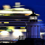 Cruise Ship At Bug Light Poster