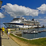 Cruise Ship In Bermuda Poster
