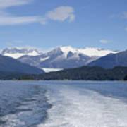 Cruise Ship Mountains Poster