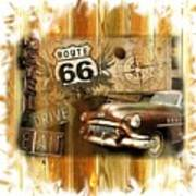 Crusin N Dining On Rt 66 Poster