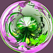 Crystal Ball Flower Garden Poster