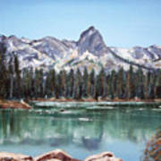 Crystal Crag From Twin Lakes Mammoth Ca Poster
