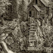 Crystal Mill Marble Colorado Sepia Dsc06944 Poster