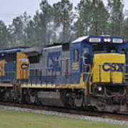 Csx 5955 Through Folkston Georgia Poster
