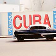 Cuba Car Poster