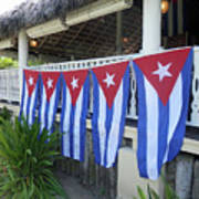 Cuban Flags Poster