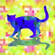 Cubist Cat Poster