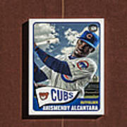 Cubs Card Collection Poster