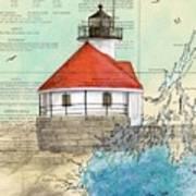 Cuckolds Lighthouse Me Nautical Chart Map Poster