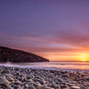 Cullernose Point At Sunrise Poster