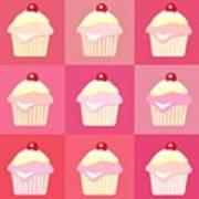 Cupcakes Pop Art  Poster