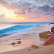 Cupecoy Beach Sunset Saint Maarten Poster