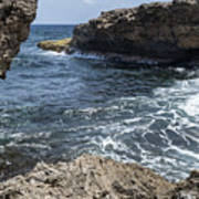 Curacao - Coast At Shete Boka National Park Poster