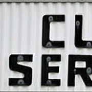 Curb Service Sign Poster