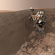 Curiosity Rover Self-portrait Poster