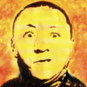 Curly Howard Three Stooges Pop Art Poster