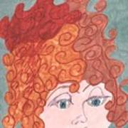 Curly Red Hair Poster