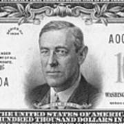 Currency: 100,000 Dollar Bill Poster