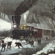 Currier And Ives Poster