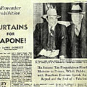 Curtains For Capone Poster