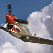 Curtiss P-40n Warhawk Poster