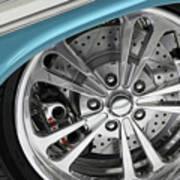 Custom Car Wheel Poster