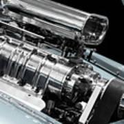 Custom Racing Car Engine Poster