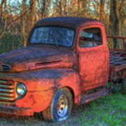 Customized Rust 1949 Ford Pickup Truck Poster