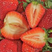 Cut Strawberries Poster