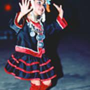 Cute Little Thai Girl Dancing Poster