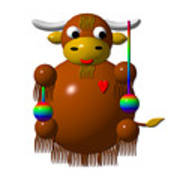 Cute Yak With Yo Yos Poster