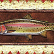 Cutthroat Trout Lodge Poster by JQ Licensing