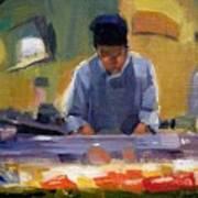 Cutting Sushi Poster